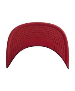 Snapback Cap Metallic Schwarz/Rot 6 Panel - verstellbar Schild
