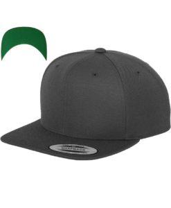Snapback Cap besticken - Snapback Cap Classic dunkelgrau 6 Panel verstellbar