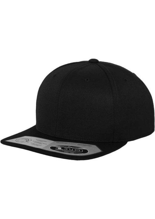 Premium Snapback Cap 110 Schwarz 6 Panel - verstellbar