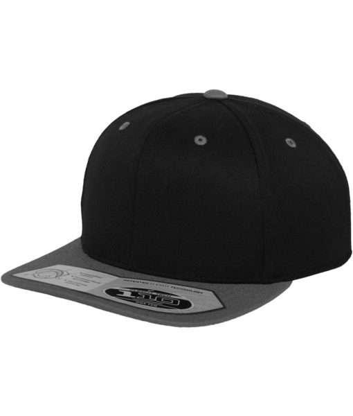 premium snapback cap 110 schwarz grau 6 panel. Black Bedroom Furniture Sets. Home Design Ideas