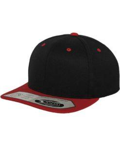 Premium Snapback Cap 110 Schwarz/Rot 6 Panel - verstellbar
