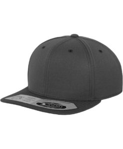 Premium Snapback Cap 110 Dunkelgrau 6 Panel - verstellbar