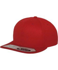 Premium Snapback Cap 110 Rot 6 Panel - verstellbar