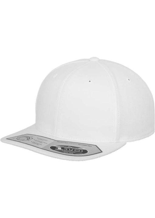 Premium Snapback Cap 110 Weiß 6 Panel - verstellbar