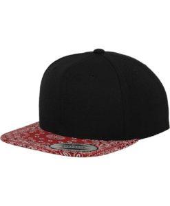 Snapback Bandana schwarz/rot - verstellbar