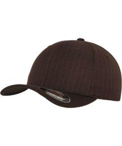Flexfit Cap Pinstripe Braun/Weiss- Fitted