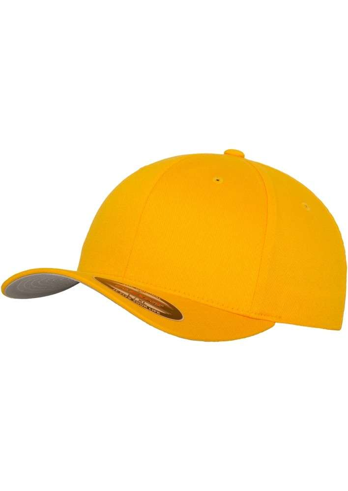 e81745542974 Home Flexfit Caps. Premium Flexfit Wooly Combed   Gold   6 Panel   Fitted