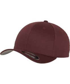 Flexfit Cap Maroon/Kastanie Wooly Combed - Fitted