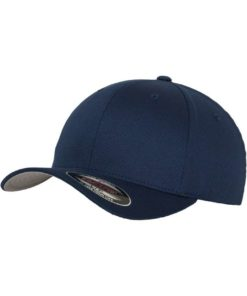 Flexfit Cap Dunkelblau Wollmischung 6 Panel - Fitted