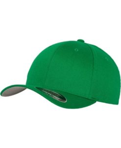 Flexfit Cap Wollmischung Pepper Green 6 Panel - Fitted