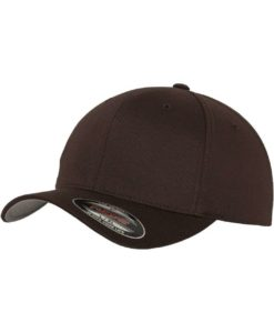 Flexfit Cap braun Wooly Combed - Fitted