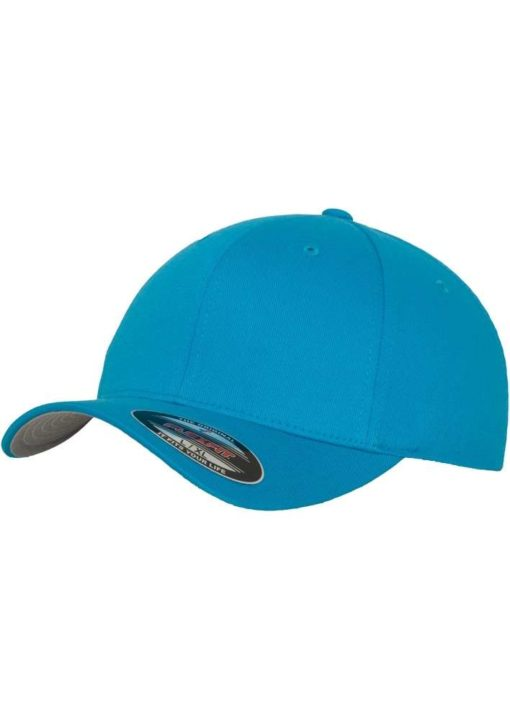 Flexfit Cap Ozeanblau Wooly Combed - Fitted