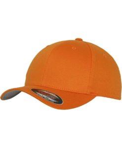 Flexfit Cap Orange Wollmischung 6 Panel - Fitted