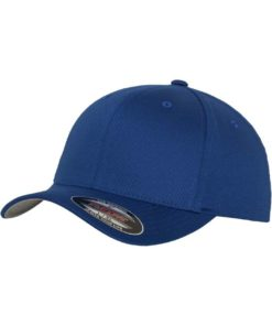 Flexfit Cap Royalblau Wollmischung 6 Panel - Fitted