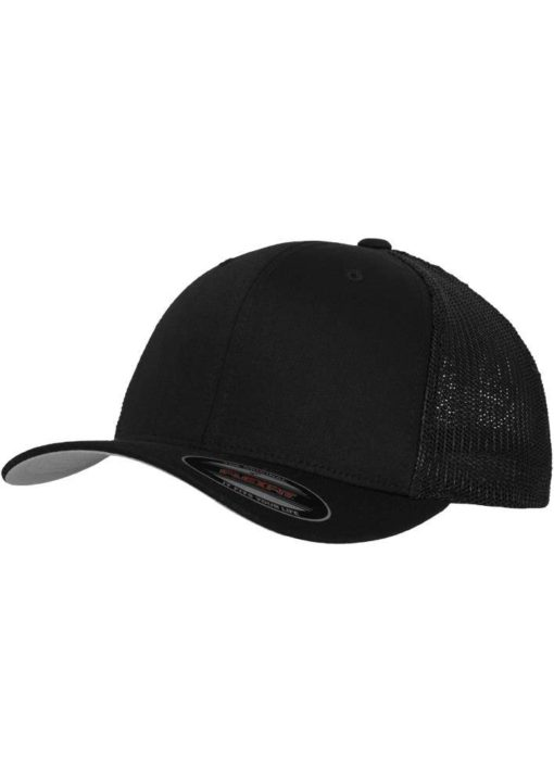 Flexfit Cap Mesh Trucker schwarz - Fitted
