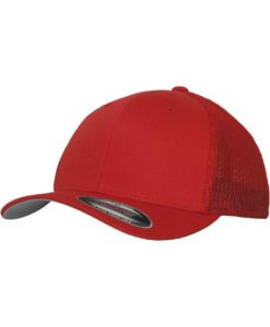 Flexfit Trucker Cap Mesh rot 6 Panel - fitted