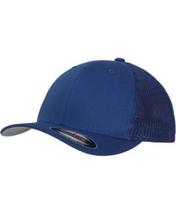 Flexfit Trucker Cap Mesh Royalblau 6 Panel - fitted