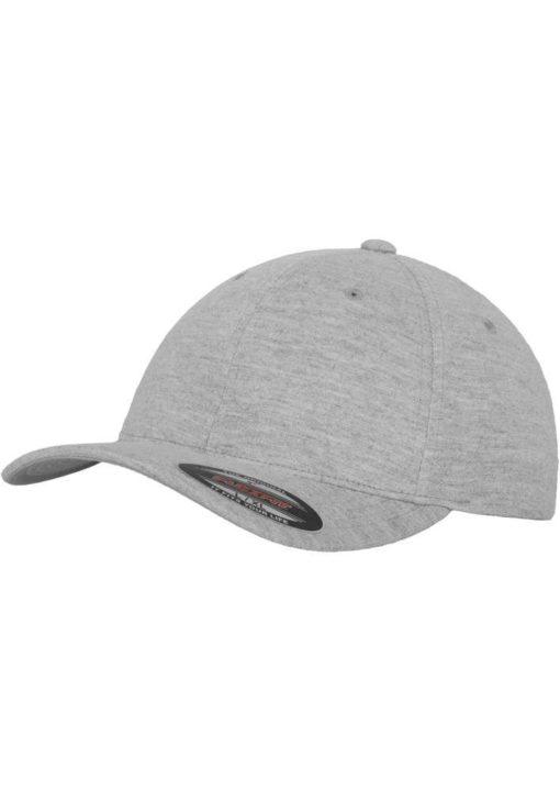 Flexfit Cap Double Strickjersey Graumeliert - Fitted