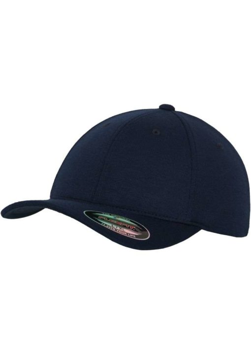 Flexfit Cap Double Strickjersey Dunkelblau - Fitted
