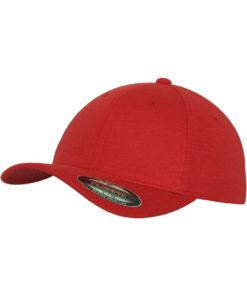 Flexfit Cap Double Strickjersey Rot - Fitted