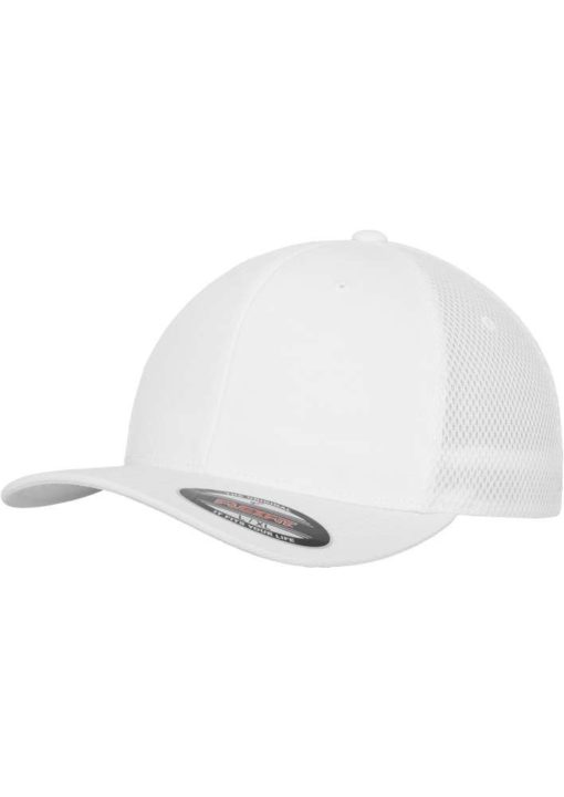 Flexfit Cap Weiß Tactel Atmungsaktiv - Fitted