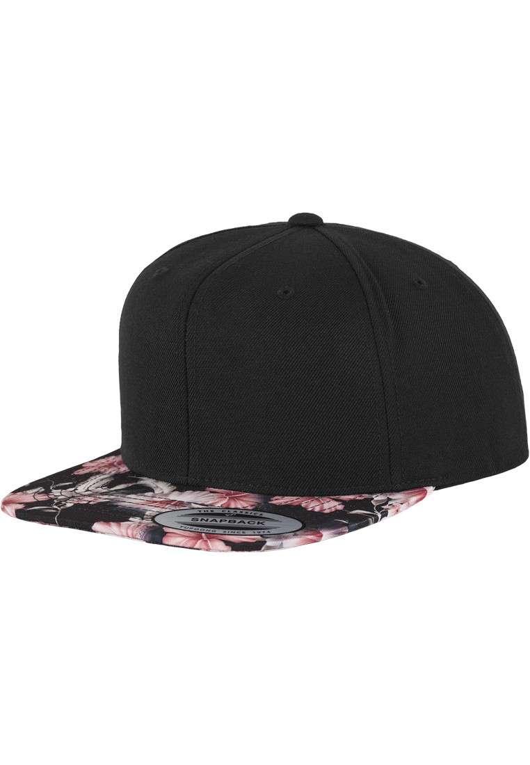 premium snapback cap floral pink 6 panel verstellbar. Black Bedroom Furniture Sets. Home Design Ideas