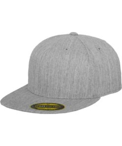 Premium Cap 210 Graumeliert 6 Panel - Fitted