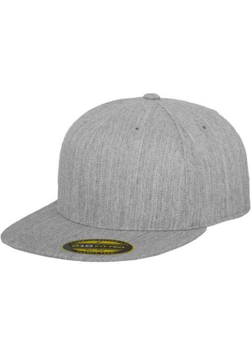 Premium Cap 210 Graumeliert 6 Panel - Fitted