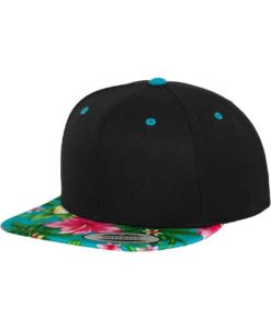 Snapback Cap Hawaii Schwarz/Blau 6 Panel - verstellbar