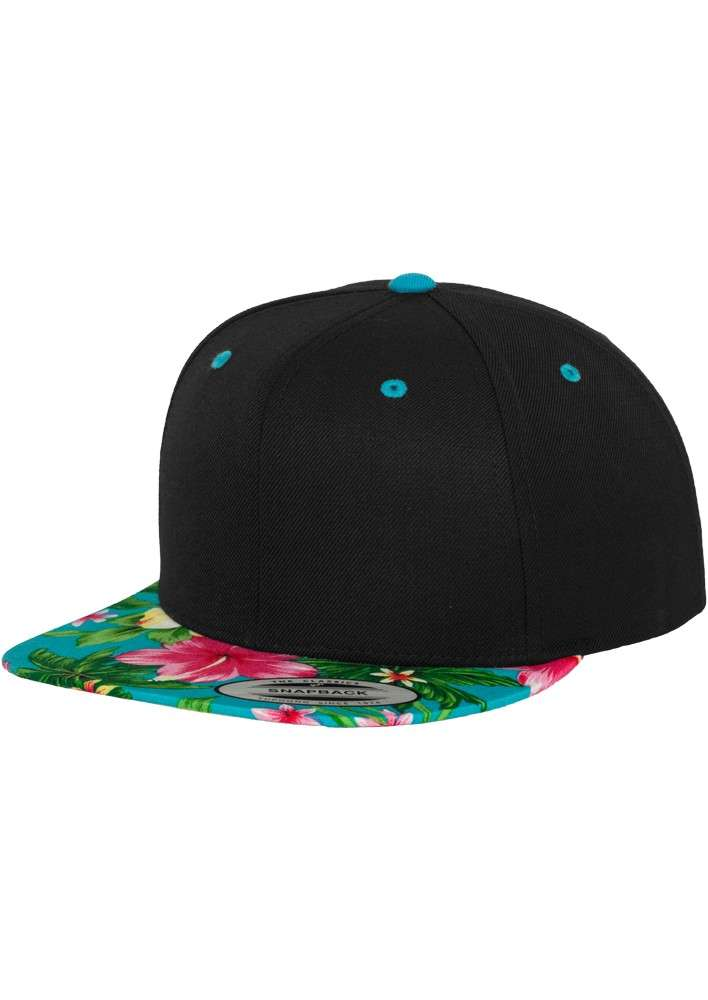 premium snapback cap hawaii schwarz blau 6 panel. Black Bedroom Furniture Sets. Home Design Ideas