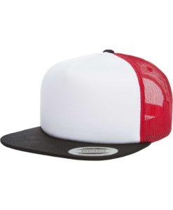 Snapback Cap Trucker Foam Rot/Weiß/Schwarz- verstellbar