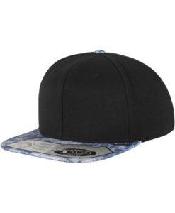 Premium Snapback Cap 110 Acid Effect Schwarz/Blau 6 Panel - verstellbar
