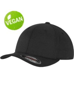 Flexfit Vegan/Bambus Schwarz 6 Panel - Fitted