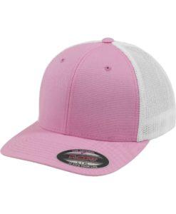 Flexfit Cap Trucker Mesh Pink/Weiß - Fitted