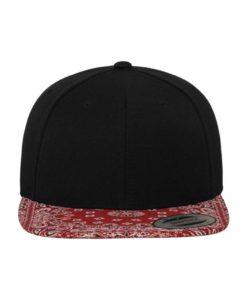 Snapback Bandana schwarz/rot - verstellbar Ansicht vorne