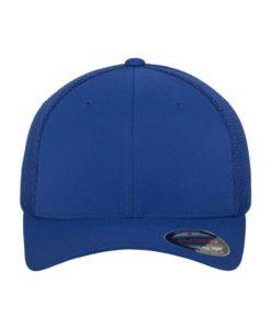 Flexfit Cap Blau Tactel Atmungsaktiv - Fitted Ansicht vorne