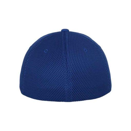 Flexfit Cap Blau Tactel Atmungsaktiv - Fitted Ansicht hinten