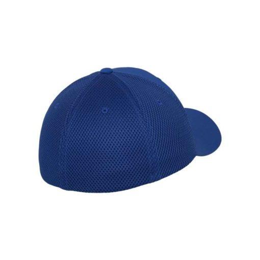 Flexfit Cap Blau Tactel Atmungsaktiv - Fitted Seitenansicht hinten