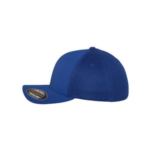 Flexfit Cap Blau Tactel Atmungsaktiv - Fitted Seitenansicht links