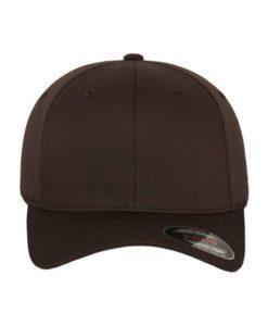 Flexfit Cap Braun Wooly Combed - Fitted Ansicht vorne