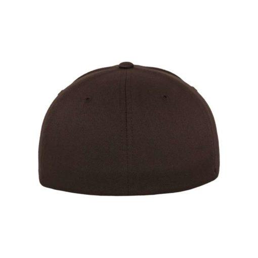 Flexfit Cap Braun Wooly Combed - Fitted Ansicht hinten