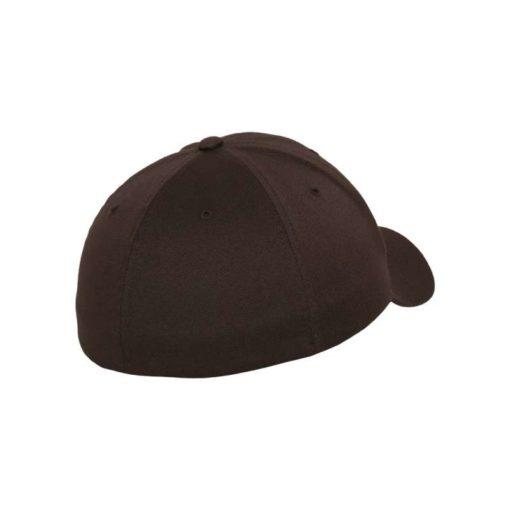 Flexfit Cap Braun Wooly Combed - Fitted Seitenansicht hinten