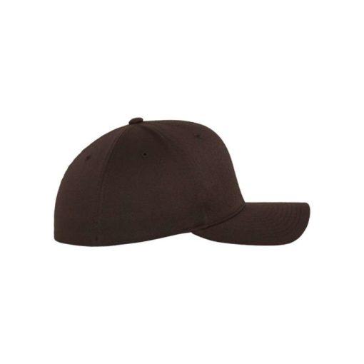 Flexfit Cap Braun Wooly Combed - Fitted Seitenansicht rechts