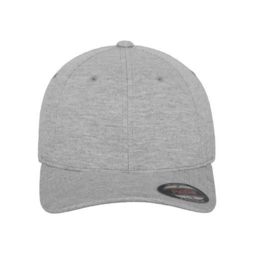 Flexfit Cap Double Strickjersey Graumeliert - Fitted Ansicht vorne