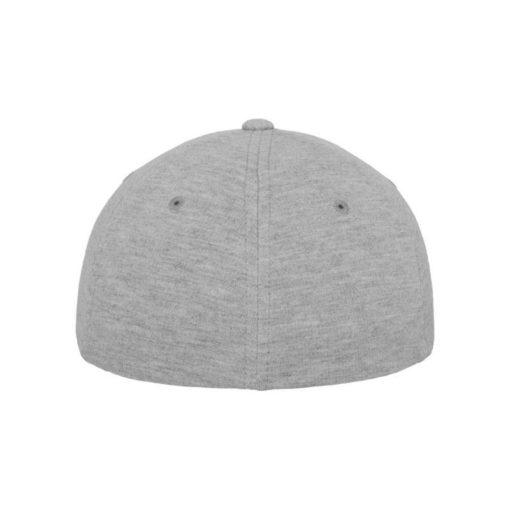 Flexfit Cap Double Strickjersey Graumeliert - Fitted Ansicht hinten