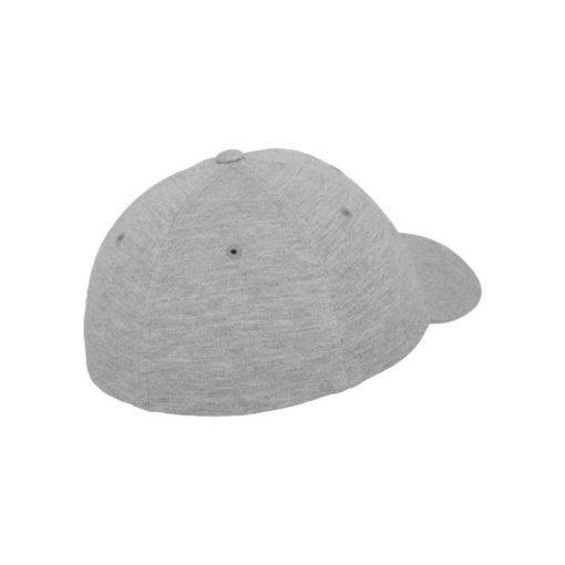 Flexfit Cap Double Strickjersey Graumeliert - Fitted Seitenansicht hinten