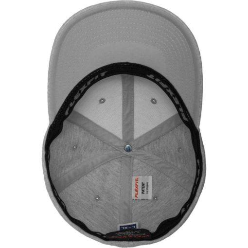 Flexfit Cap Double Strickjersey Graumeliert - Fitted Ansicht innen
