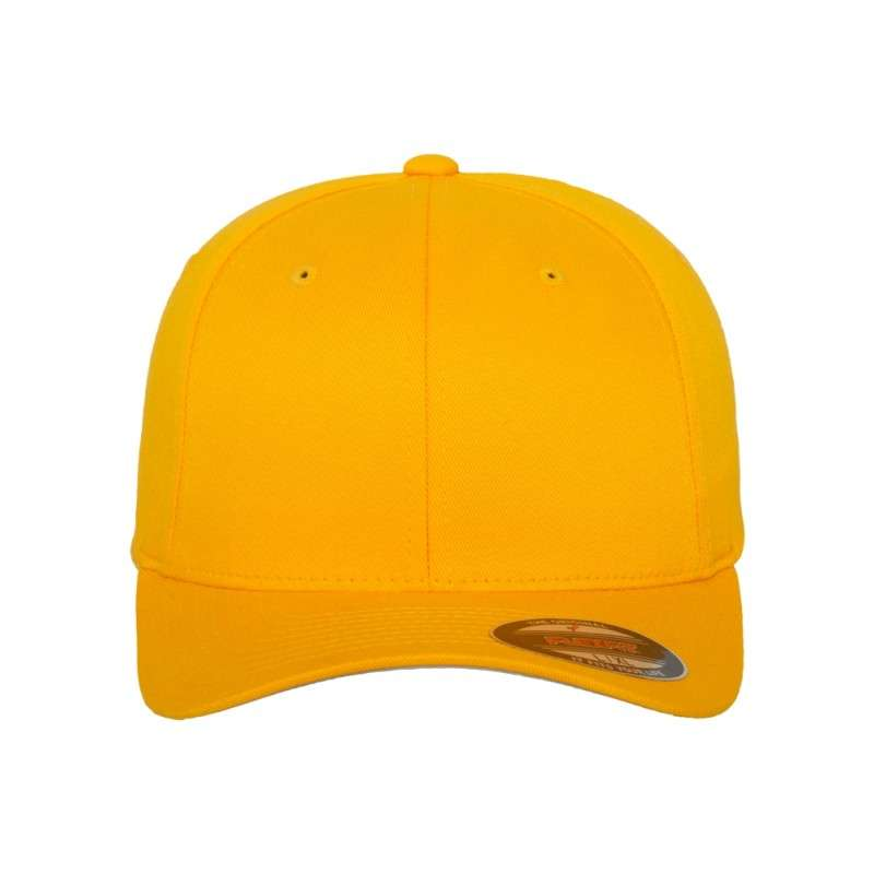 222a7e8e2d5d Premium Flexfit Wooly Combed   Gold   6 Panel   Fitted - styleyourcap®