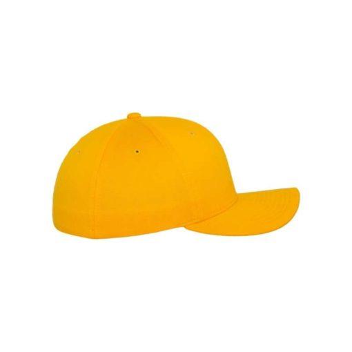 Flexfit Cap Gold Wooly Combed - Fitted Seitenansicht rechts
