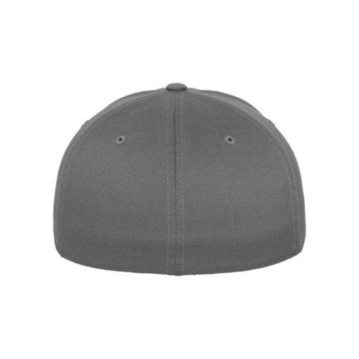 Flexfit Cap Grau Wollmischung 6 Panel - Fitted Ansicht hinten